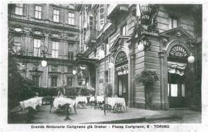 Pepino, Grande Ristorante Carignano, ripresa fotografica del 1925-1926 (Riproduzione da libro: Artusio, L. - Bocca, M. - Governato, M., 2005 p. 60 n.112)