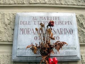 Lapide dedicata a Morano Cesarino (1925 - 1945)