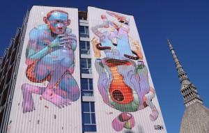 Aryz, murale senza titolo, Festival PicTurin 2010, Palazzo Nuovo
