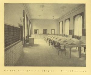 Biblioteca civica Centrale, sala consultazione cataloghi e distribuzione, 1929. Biblioteca civica Centrale © Biblioteche civiche torinesi