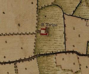 Cascina Il Tarino. Carta Topografica della Caccia, 1760-1766 circa. © Archivio di Stato di Torino