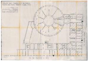 Isolato di San Francesco da Paola, pianta del piano terreno, scala 1:100, 30 .5.1962 (ASCT, Tipi e disegni, cart. 14, fasc. 7 n. 11) © Archivio Storico della città di Torino
