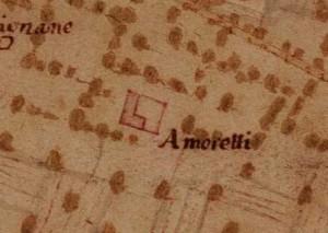 Cascina Amoretti. Carta della Montagna, 1694-1703. ©Archivio di Stato di Torino.