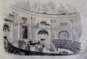 Camera dei deputati nel Palazzo Carignano di Torino, da