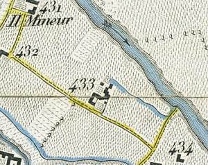 Cascina Tetti Basse di Dora. Topografia della Città e Territorio di Torino, 1840. © Archivio Storico della Città di Torino