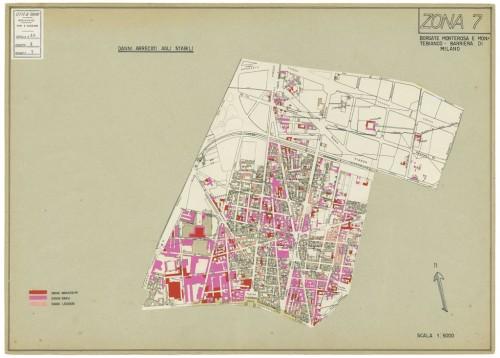Danni arrecati agli stabili 1 5000 1942 1945 zona 7 for Rosa dei mobili torino