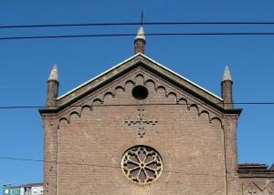 Chiesa di San Michele, particolare della facciata. Fotografia di Paola Boccalatte, 2013. © MuseoTorino