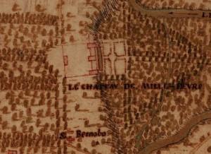 Cascina Mirafiori. Carta della Montagna, 1694-1703. © Archivio di Stato di Torino