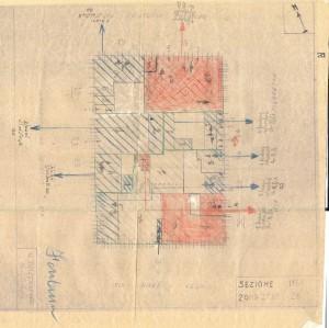 Bombardamenti aerei. Censimento edifici danneggiati o distrutti. ASCT Fondo danni di guerra inv. 1161 cart. 24 fasc. 15. © Archivio Storico della Città di Torino