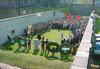 Sacrario del Marinetto, cerimonia commemorativa della fucilazione del Comitato Militare Piemontese della Resistenza. Archivio Circoscrizione 4, 2003.