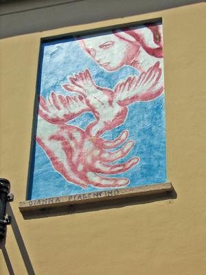 Gianna Piacentino, opera murale per il MAU Museo Arte Urbana. Fotografia di Alessandro Vivanti, 2011. © MuseoTorino