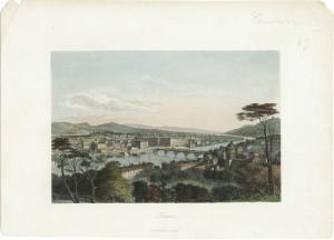 Veduta di Torino con il ponte Vittorio Emanuele I, litografia di M. Mandeville, Parigi 1840. © Archivio Storico della Città di Torino.