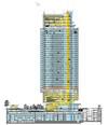Sezione del grattacielo Intesa Sanpaolo. © Renzo Piano Building Workshop