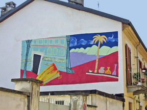 Giorgio Ramella, Senza titolo, 2000, opera murale per il MAU Museo Arte Urbana, via Locana 19. Fotografia di Alessandro Vivanti, 2011