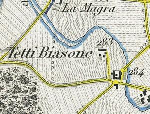 Cascina Biasone. Antonio Rabbini, Topografia della Città e Territorio di Torino, 1840. © Archivio Storico della Città di Torino