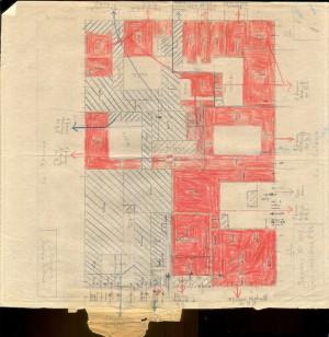 Bombardamenti aerei. Censimento edifici danneggiati o distrutti. ASCT Fondo danni di guerra inv. 1009 cart. 21 fasc. 10. © Archivio Storico della Città di Torino