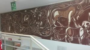 Biblioteca civica Alberto Geisser. Dipinto murale di Giacomo Soffiantino. Fotografia di Maria Nives Pala, 2019 © Biblioteche civiche torinesi