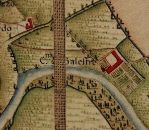 Cascina Marchesa. Carta Topografica della Caccia, 1760-1766 circa. © Archivio di Stato di Torino