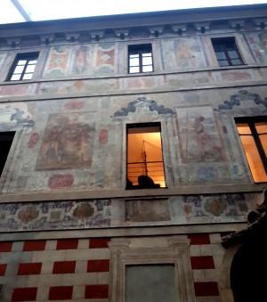Trompe l'oeil e facciate dipinte, Palazzo Scaglia di Verrua. Fotografia di Raffaele Palma, 2020