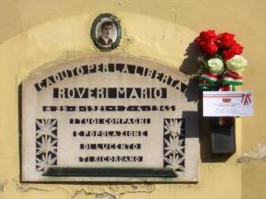 Lapide dedicata a Mario Roveri (1921 - 1945)