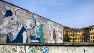Ericailcane, murale senza titolo, 2010, via Fiochetto 15. Fotografia di Roberto Cortese, 2017 © Archivio Storico della Città di Torino