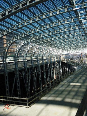 Vista del Nuovo Fabbricato Viaggiatori. Fotografia di Agostino Magnaghi. © AREP, Silvio D'Ascia, Studio Magnaghi