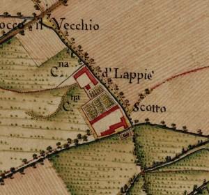 Cascina Grangia Scott. Carta Topografica della Caccia, 1760-1766 circa. © Archivio di Stato di Torino