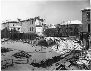 Corso Francesco Ferrucci 14, Istituto Missionari della Consolata. Effetti prodotti dai bombardamenti dell'incursione aerea dell' 8-9 dicembre 1942. UPA 2791_9F02_42. © Archivio Storico della Città di Torino