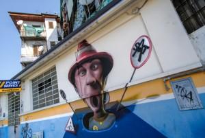 Encs, Pistola popcorn, SAT Street Art Tour 2015