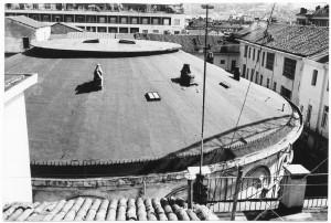 La copertura della Rotonda ripresa dal tetto dell'edificio di via San Francesco da Paola, s.d. (ASCT, Archivio fotografico, fondo CRDC, FT 14D10_007) © Archivio Storico della città di Torino