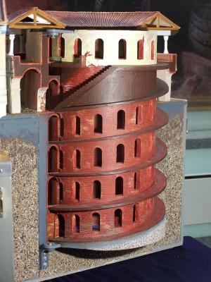 Plastico del Cisternone della Cittadella di Torino. Immagine tratta da depliant pubblicato dal CeSRAMP.