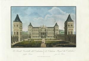 Castello del Valentino, incisione di Angeti su disegno di Nicolosino. © Archivio Storico della Città di Torino