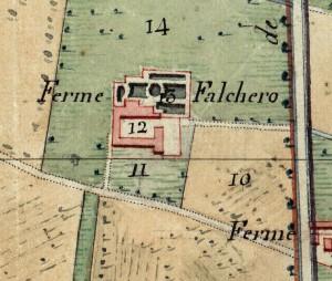 Cascina Falchera. Catasto Napoleonico, 1805. © Archivio di Stato di Torino