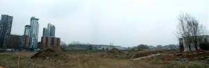 L'area del lotto Valdocco all'avvio del cantiere. Fotografia Comitato Parco Dora, marzo 2010.