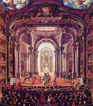 Giovanni Michele Graneri, Interno del Teatro Regio, 1752, olio su tela, cm 114x128,5. Torino, Museo Civico d'Arte Antica e Palazzo Madama, inv. 0534/D