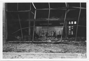 Teatro della Moda, Corso Massimo D'Azeglio.  Effetti prodotti dai bombardamenti dell'incursione aerea del 12-13 agosto 1943. UPA 3914_9E03-20. © Archivio Storico della Città di Torino/Archivio Storico Vigili del Fuoco