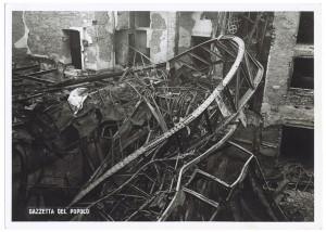 Teatro di Torino (già Scribe), Via Montebello 5.  Effetti prodotti dai bombardamenti dell'incursione aerea dell'8 dicembre 1942. UPA 2699D_9C05-11. © Archivio Storico della Città di Torino