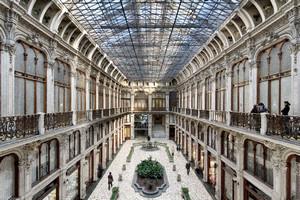 Pietro Carrera, Galleria Subalpina (veduta dall'alto, frontale, dettaglio), 1874. Fotografia di Mattia Boero, 2010. © MuseoTorino.