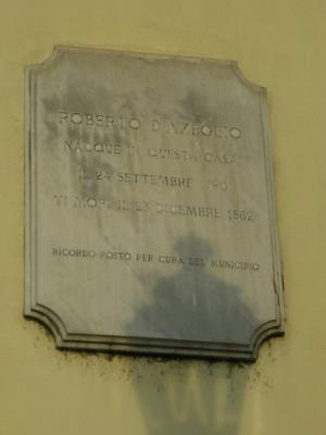 Lapide dedicata a Roberto d'Azeglio. Fotografia di Elena Francisetti, 2010. © MuseoTorino