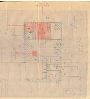 Bombardamenti aerei. Censimento edifici danneggiati o distrutti. ASCT Fondo danni di guerra inv. 1168 cart. 24 fasc. 22. © Archivio Storico della Città di Torino