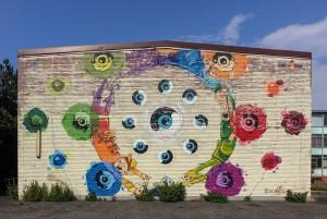 Corn79 e Mrfijodor, murale senza titolo, 2012, Hiroshima Mon Amour, via Bossoli