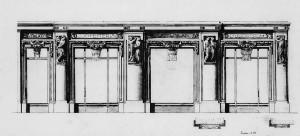 Baratti & Milano, progetto della facciata di G. Casanova presso l'Archivio dell'Accademia Albertina, Fotografia di Marco Corongi, 2005 ©Politecnico di Torino