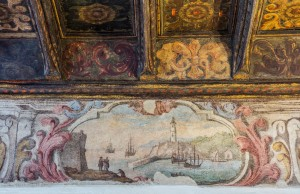 Casa Siccardi, fregio affrescato e soffitto. Fotografia di Michele Vacchiano, 2016 © Biblioteche civiche torinesi