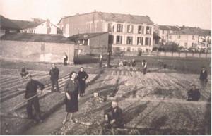 Il terreno di corso Brin prima della costruzione del'edificio negli anni Quaranta.©Unione catechisti.
