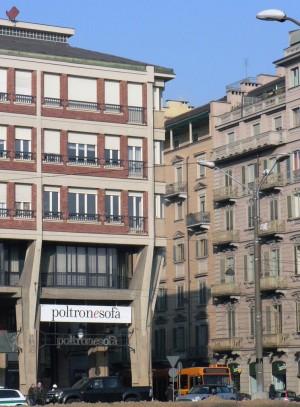 Bbpr, edificio per uffici e abitazioni, 1959. Porzione all'angolo con via Cibrario. Fotografia di Davide Rolfo, 2012. © MuseoTorino