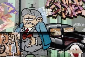MKE, senza titolo, dettaglio del murale, 2011, via Chambéry. Fotografia di Roberto Cortese, 2017 © Archivio Storico della Città di Torino