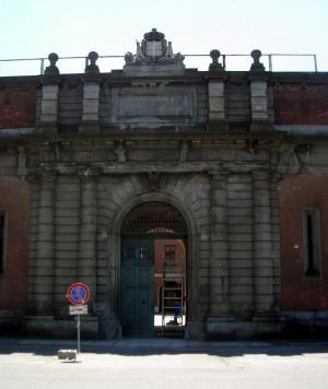 Particolare dell'ingresso principale. Fotografia di Silvia Bertelli.