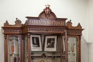 Farmacia Montanaro-Bacolla, particolare dell'arredo, 2017 © Archivio Storico della Città di Torino