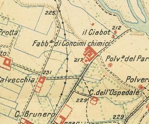 Cascina del Rivore. Istituto Geografico Militare, Pianta di Torino e dintorni, 1911. © Archivio Storico della Città di Torino