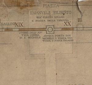 Tratti delle mura della città romana in piazza della Repubblica